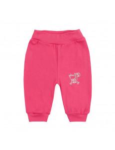Штанишки ярко-розовые для малышей на резинке